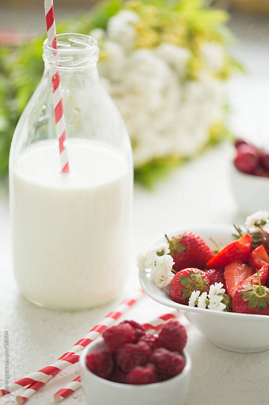 Berry Fruit and Milk by Lumina for Stocksy United