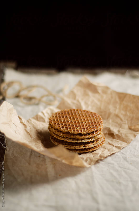 caramel wafers by Crissy Mitchell for Stocksy United