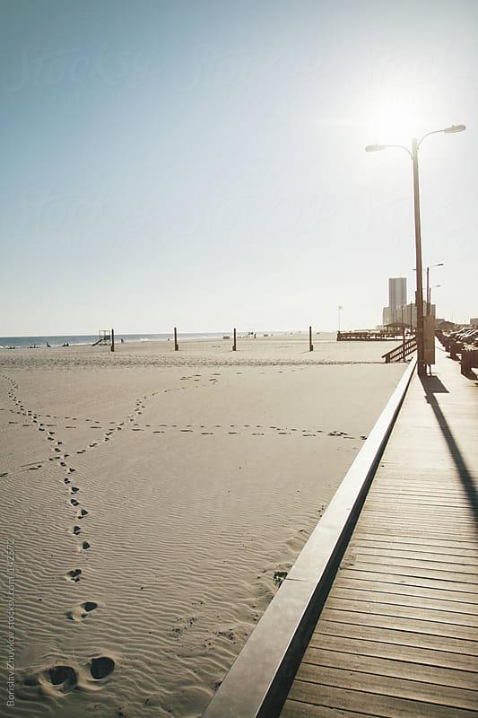 Promenade on the beach by Borislav Zhuykov for Stocksy United