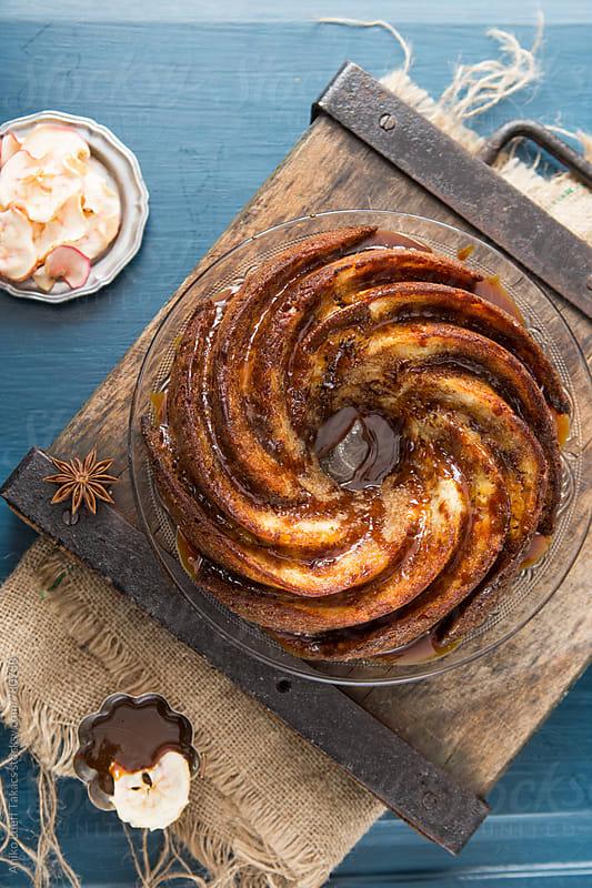 Apple Caramel Bundt Cake by Aniko Lueff Takacs for Stocksy United