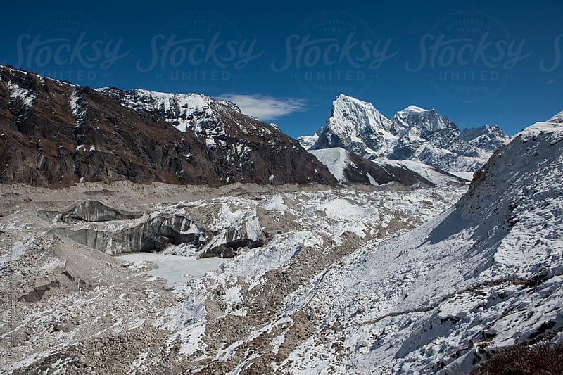 Ngozumpa glacier as seen from Gokyo. by Shikhar Bhattarai for Stocksy United