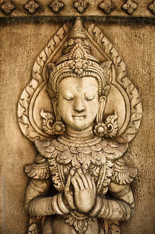 Stone carved asian image by Artem Zhushman for Stocksy United