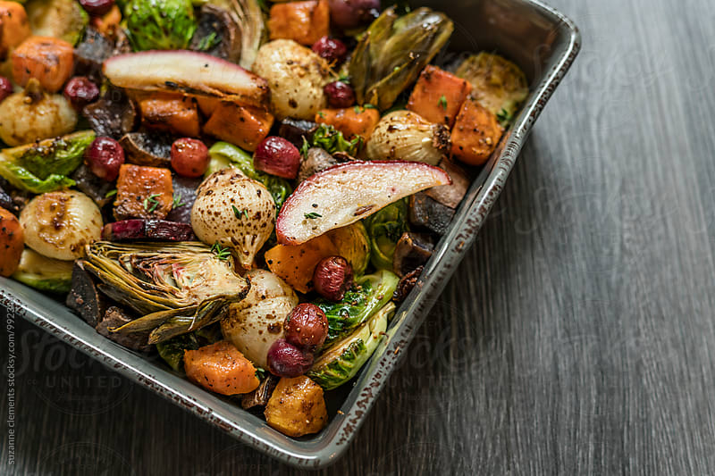 Roasted Winter Vegetables by suzanne clements for Stocksy United