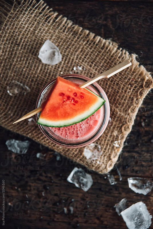 Drink: Watermelon Lemonade, non-alcoholic by Ina Peters for Stocksy United