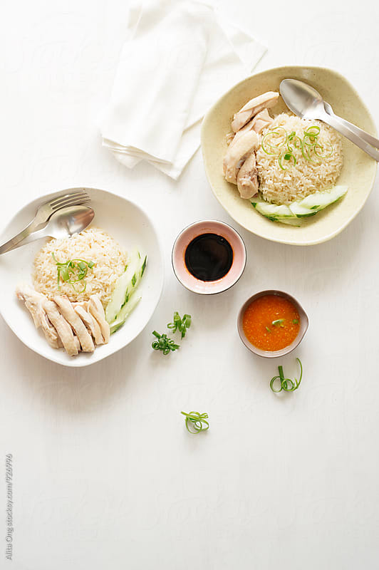 Chicken rice by Alita Ong for Stocksy United