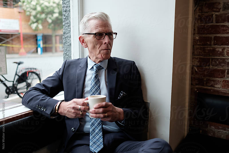 A Stylish Older Businessman by Nick Walter for Stocksy United