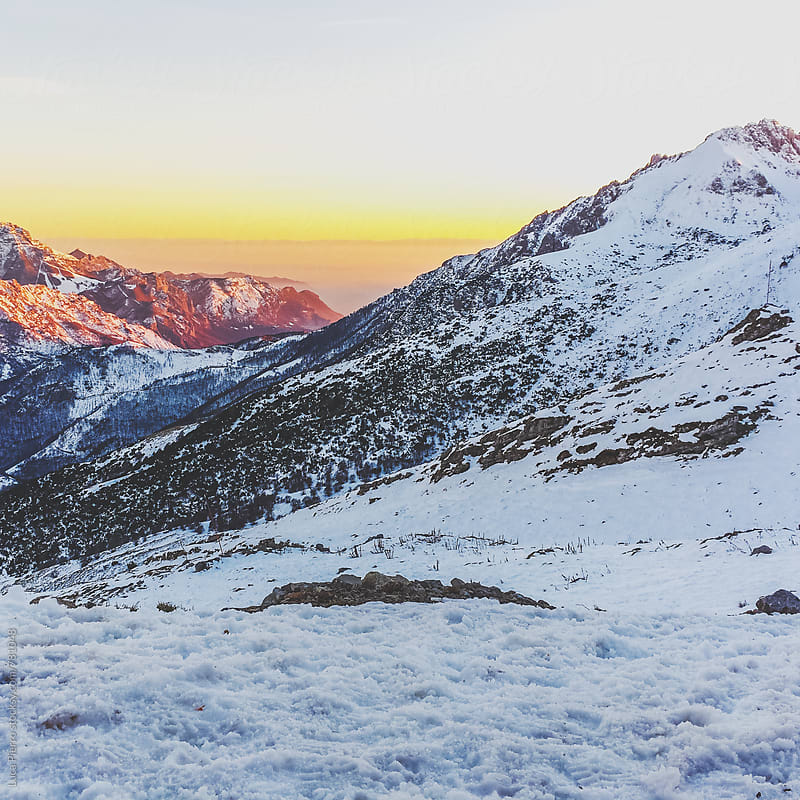 Alps at sunrise by Luca Pierro for Stocksy United