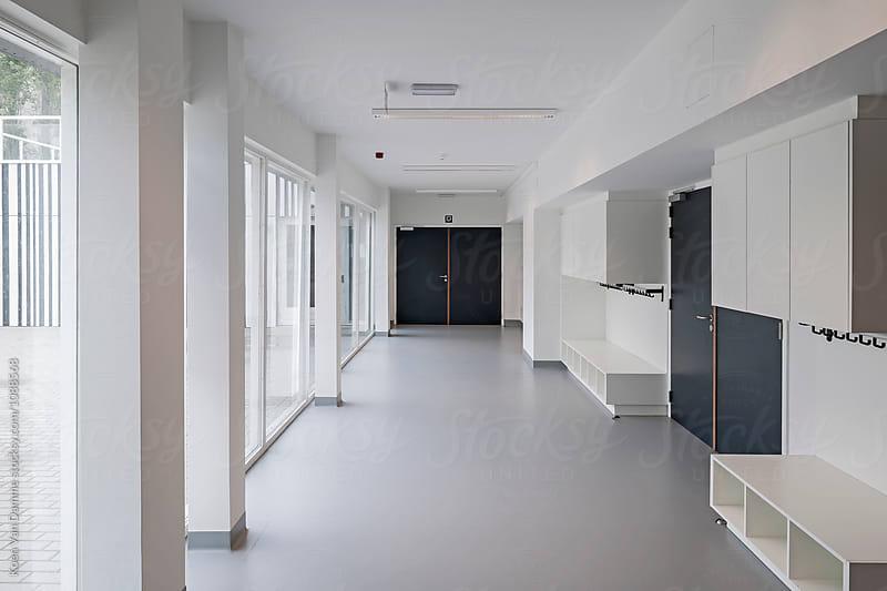 School hallway by Koen Van Damme for Stocksy United