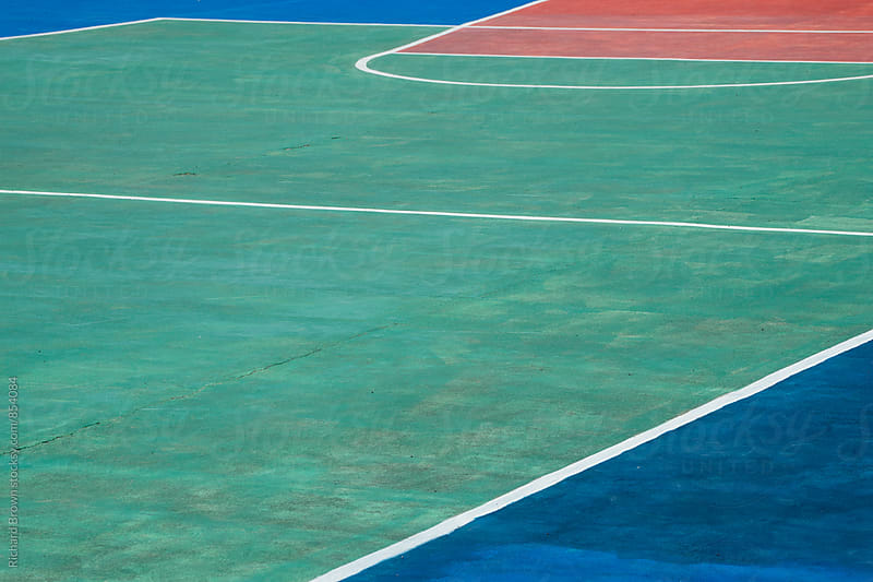 Basketball Court Abstracts by Richard Brown for Stocksy United