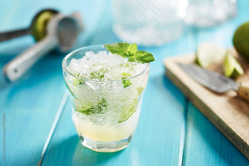 Homemade mojito cocktail by Martí Sans for Stocksy United