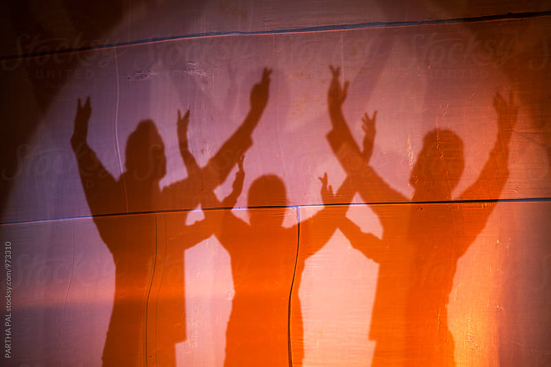 Indian Danceers in shadow by PARTHA PAL for Stocksy United
