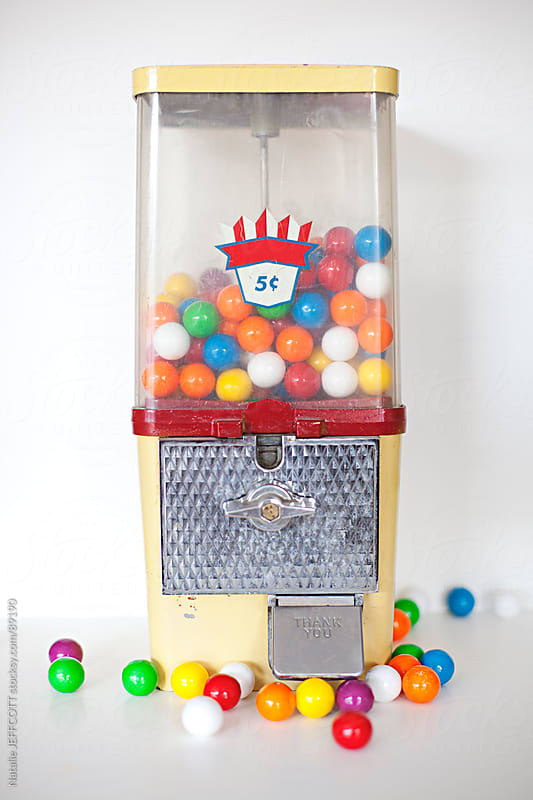 gum ball machine by Natalie JEFFCOTT for Stocksy United