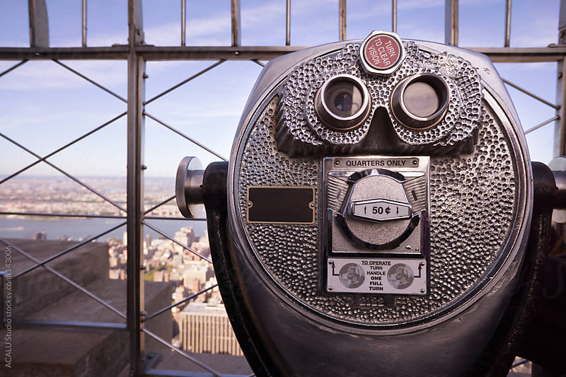 Binoculars in the Empire State by ACALU Studio for Stocksy United