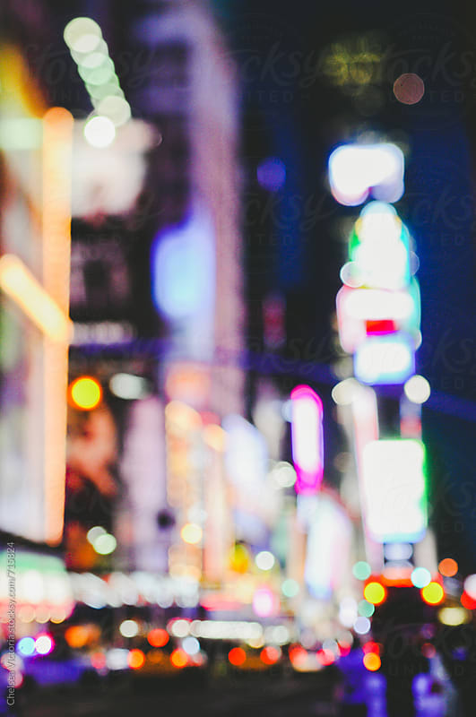 Times square in New York by Chelsea Victoria for Stocksy United