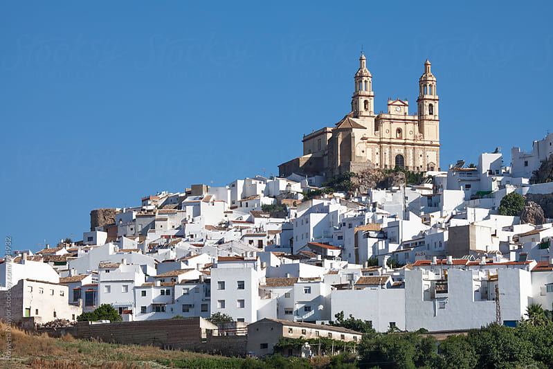 White Moorish Village in Spain by Rowena Naylor for Stocksy United