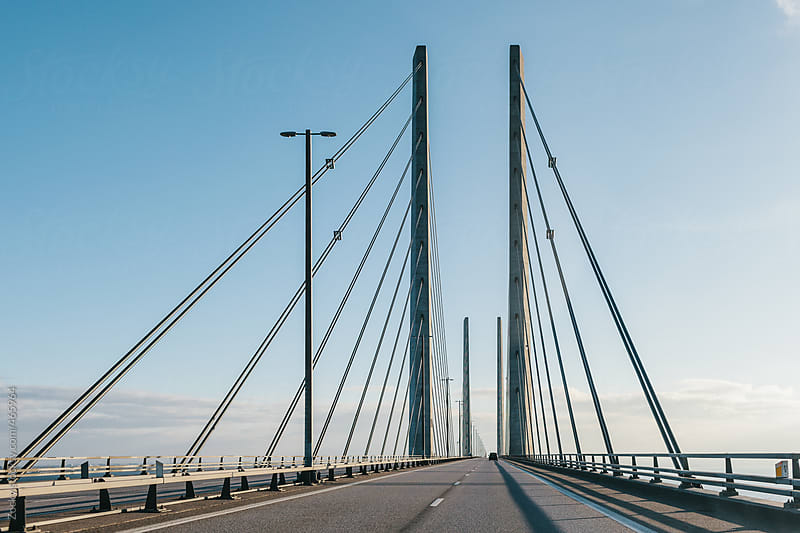 Bridge over Öresund connectin Sweden and Denmark by Zocky for Stocksy United