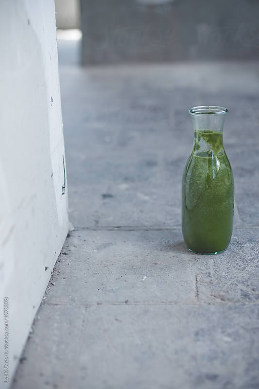 A smoothie green of veggies by Lydia Cazorla for Stocksy United