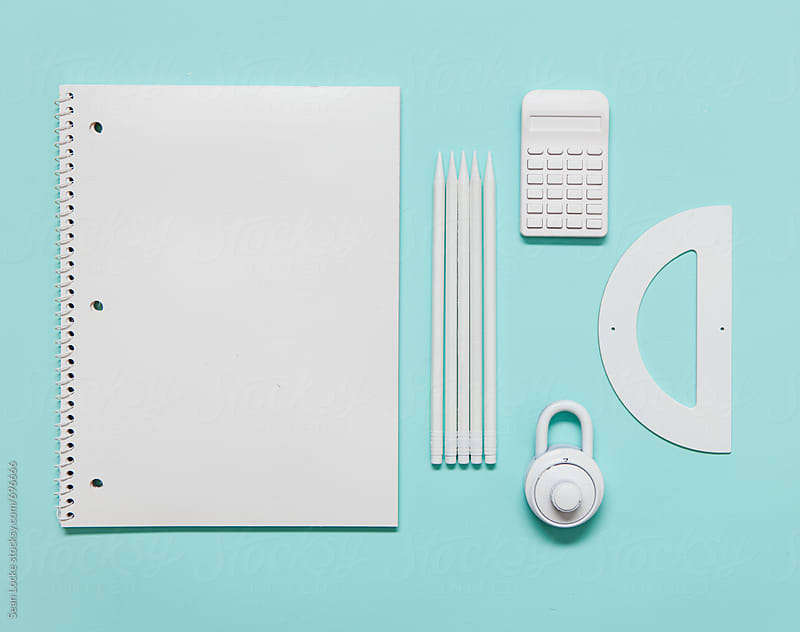 White School Supplies For Middle School Student by Sean Locke for Stocksy United