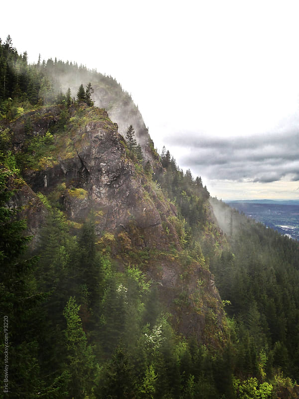 Foggy Morning on Rattlesnake Ridge by Eric Bowley for Stocksy United