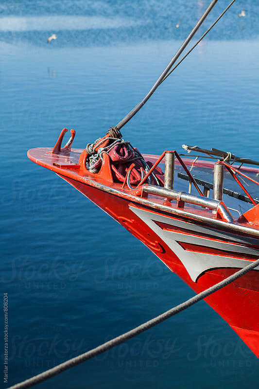 Detail of a fishing boat by Marilar Irastorza for Stocksy United