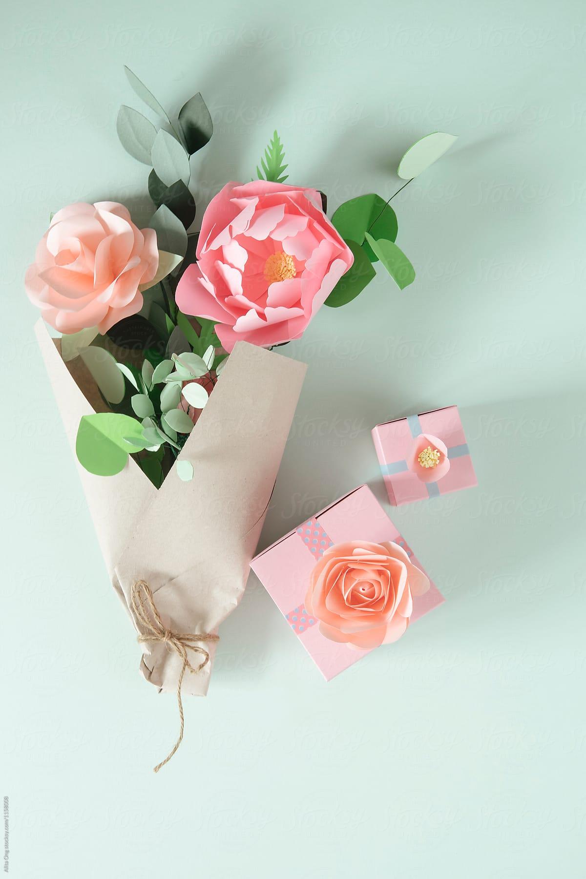 Paper Flowers Bouquet Stocksy United