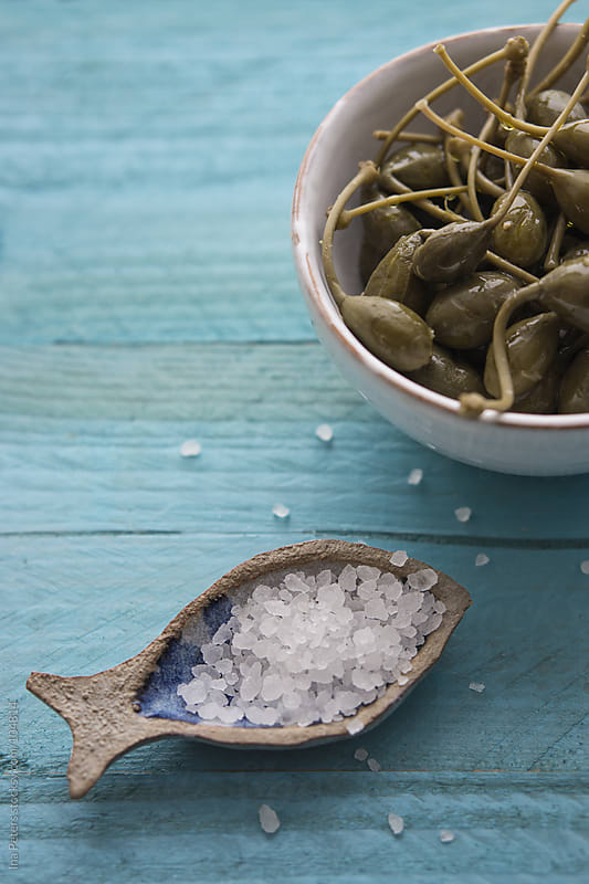 Food: Capers and Sea Salt by Ina Peters for Stocksy United