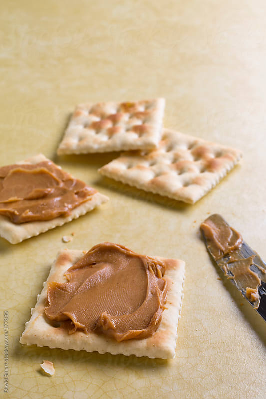 Peanut butter soda crackers by David Smart for Stocksy United