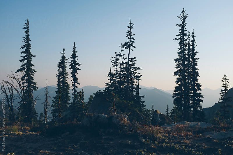 Mountain scene in the Central Cascades, WA, USA by Paul Edmondson for Stocksy United