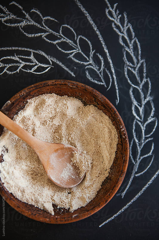 Bowl of Brown Flour by Lumina for Stocksy United