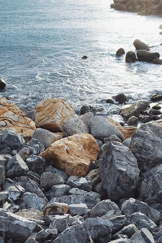 Rocky Shores of New Zealand by Maximilian Guy McNair MacEwan for Stocksy United