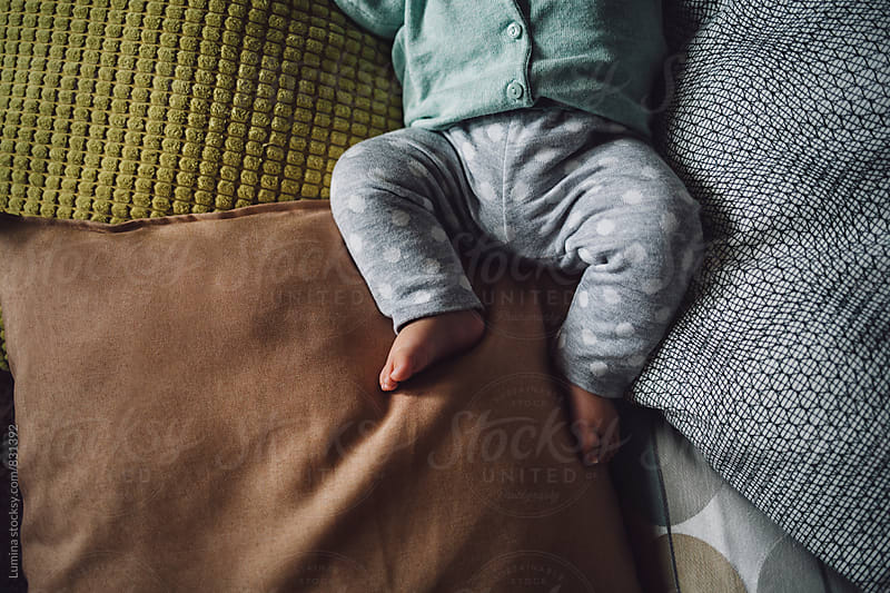 Baby Feet on the Pillows by Lumina for Stocksy United
