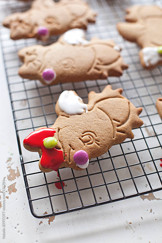 Christmas gingerbread cookies by Natalie JEFFCOTT for Stocksy United