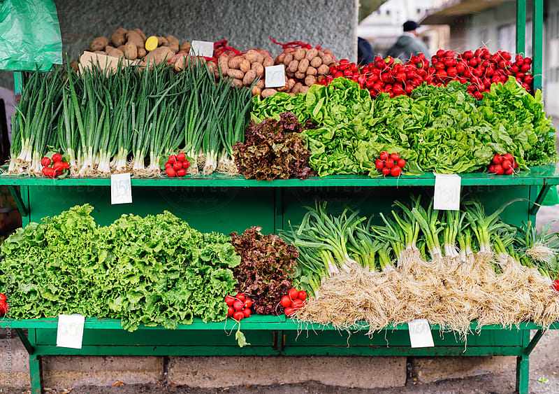 Fresh produce for sale by Pixel Stories for Stocksy United