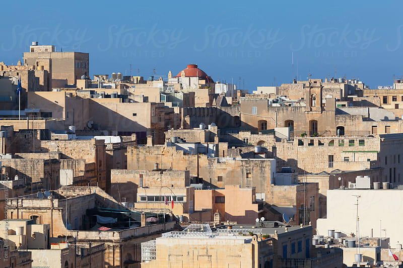 Cityscape of Valletta, Malta by Tom Uhlenberg for Stocksy United