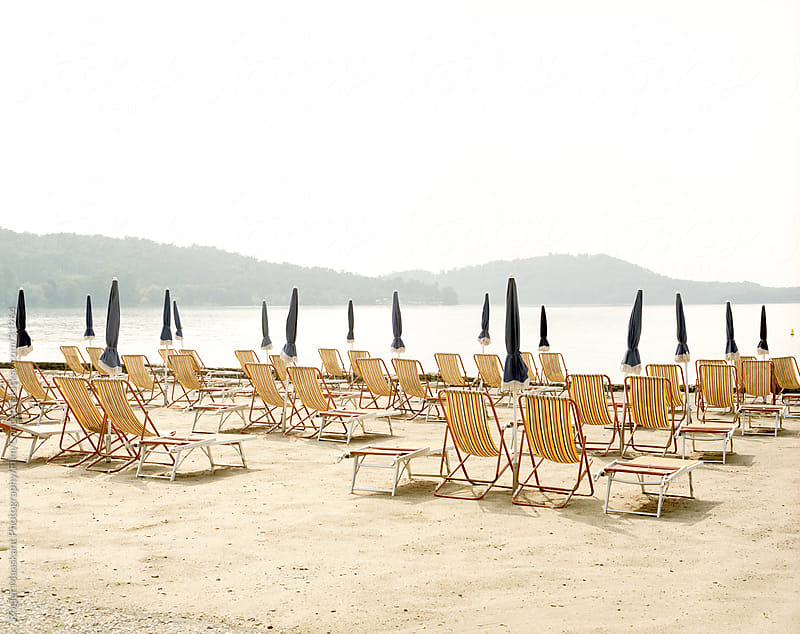 Beachchairs by Rogier Maaskant Photography/Film/Concept for Stocksy United