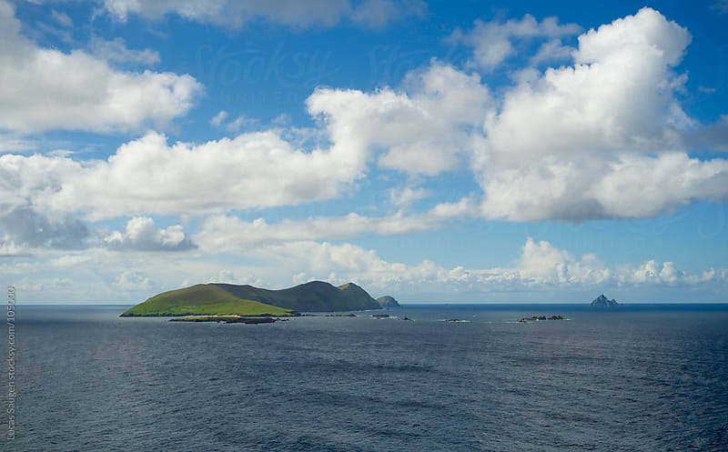 Blasket Islands from the main land of Ireland. by Lucas Saugen for Stocksy United