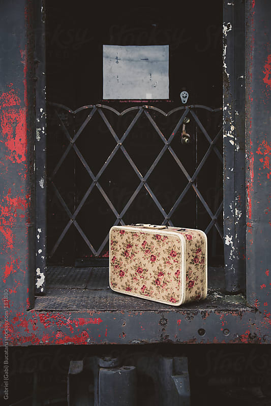 Vintage Suitcase on Train by Gabriel (Gabi) Bucataru for Stocksy United