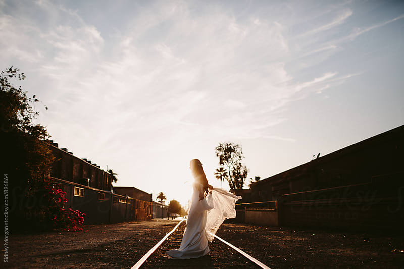 Lynlee on the Tracks by Sidney Morgan for Stocksy United