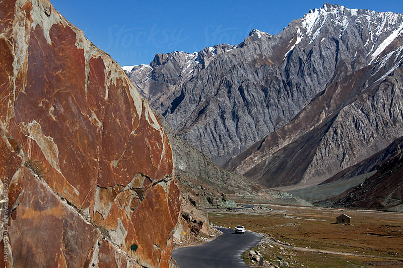 A Winding road in high altitude of Ladakh by PARTHA PAL for Stocksy United