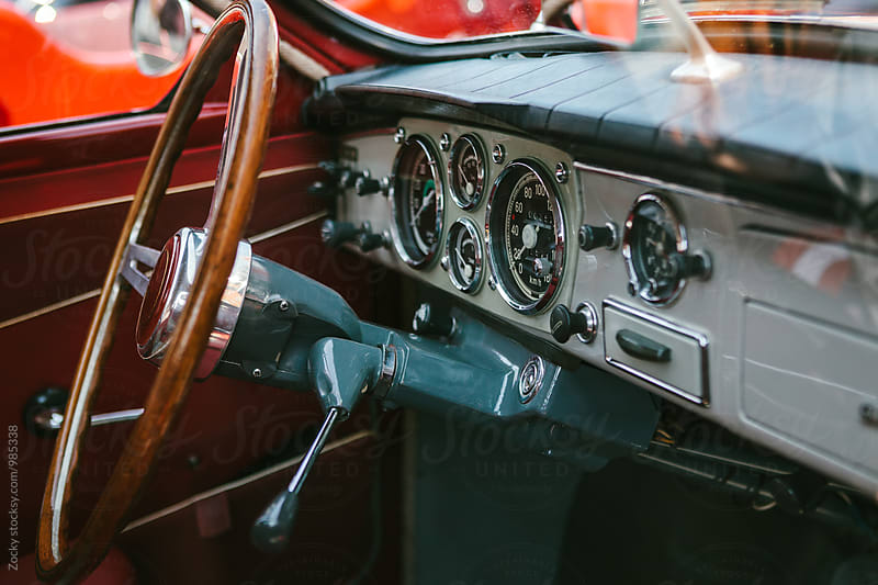 Details from a classic beautiful old and classic car by Zocky for Stocksy United