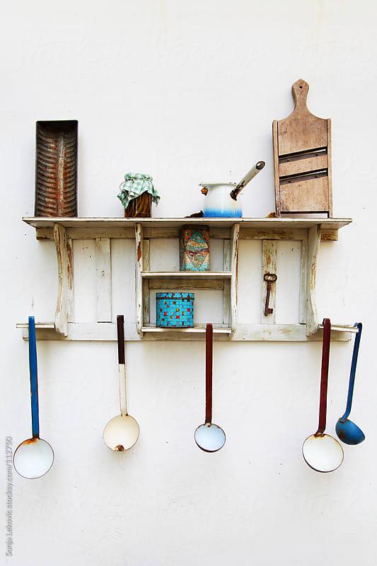 old kitchen shelf by Sonja Lekovic for Stocksy United