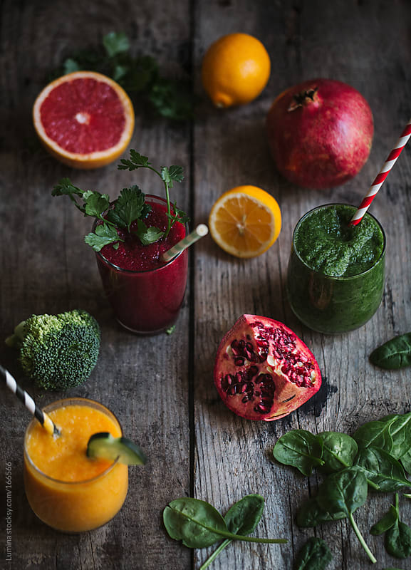 Fruit and Vegetable Smoothies by Lumina for Stocksy United