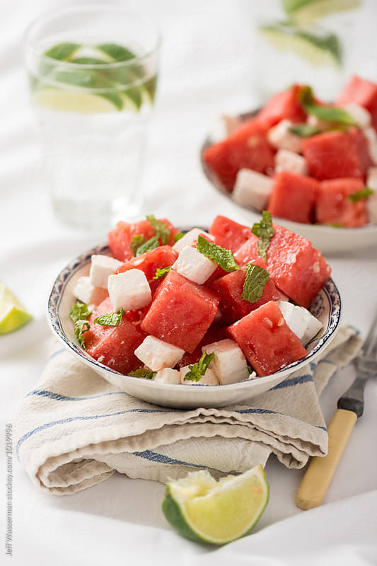 Watermelon Feta Salad by Jeff Wasserman for Stocksy United
