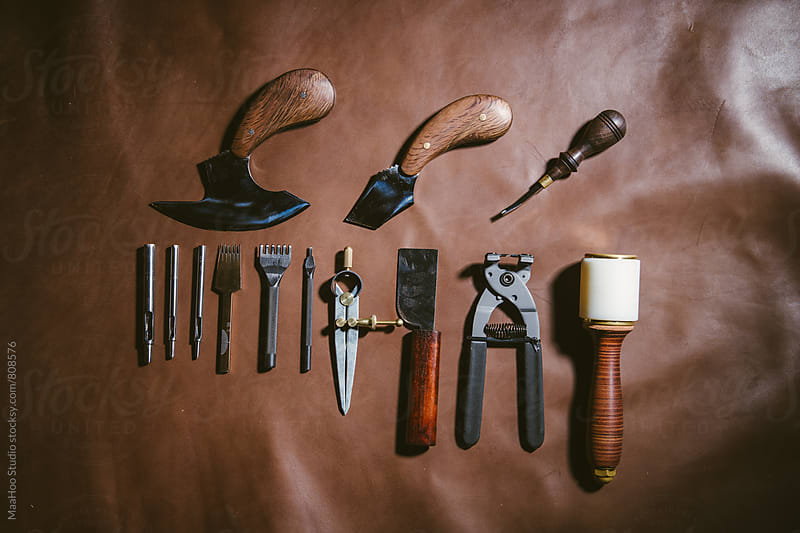 Various leather work tools by MaaHoo Studio for Stocksy United