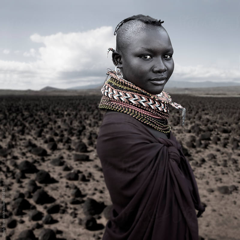 Turkana Tribeswoman. Kenya. by Hugh Sitton for Stocksy United