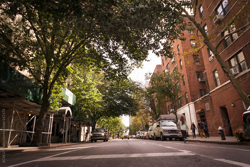 Street boulevard New Yorker by ACALU Studio for Stocksy United