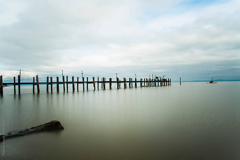 Old Pier, China Camp State Park, San Rafael, CA by Thomas Hawk for Stocksy United