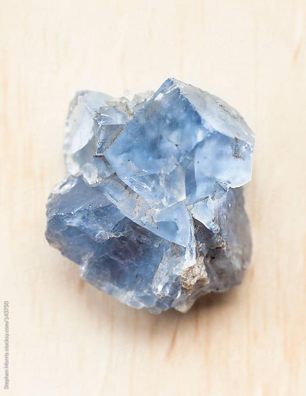 Rare blue fluorite crystal by Stephen Morris for Stocksy United