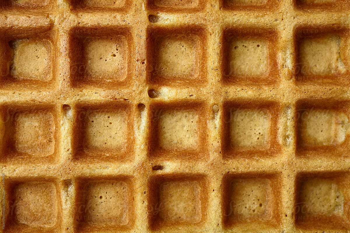 Close Up View Of A Waffle Texture  Stocksy United-1892