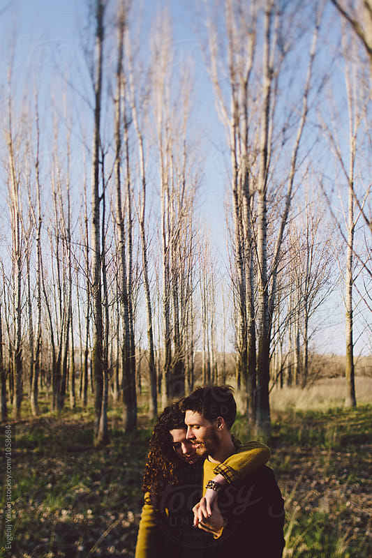 Portrait of passionate couple  by Evgenij Yulkin for Stocksy United